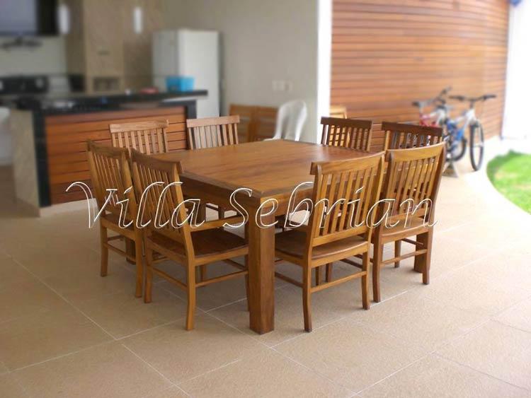 Mesa quadrada e cadeira modelo mineira villa sebrian for Modelos mesas para cafeteria