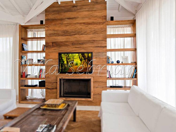 Painel em madeira de demolição - 08 - Villa Sebrian - Móveis e