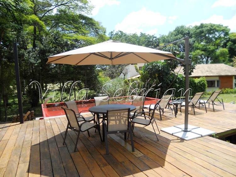 mesa jardim ombrelone:Villa Sebrian – Móveis e Decorações