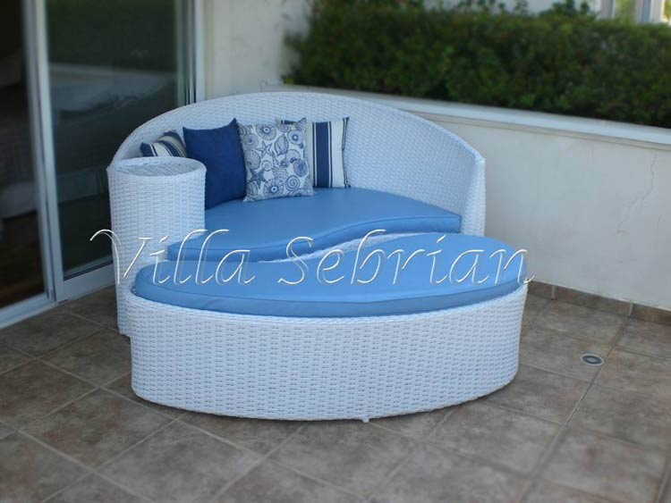 Chaise Long com puff - Lua