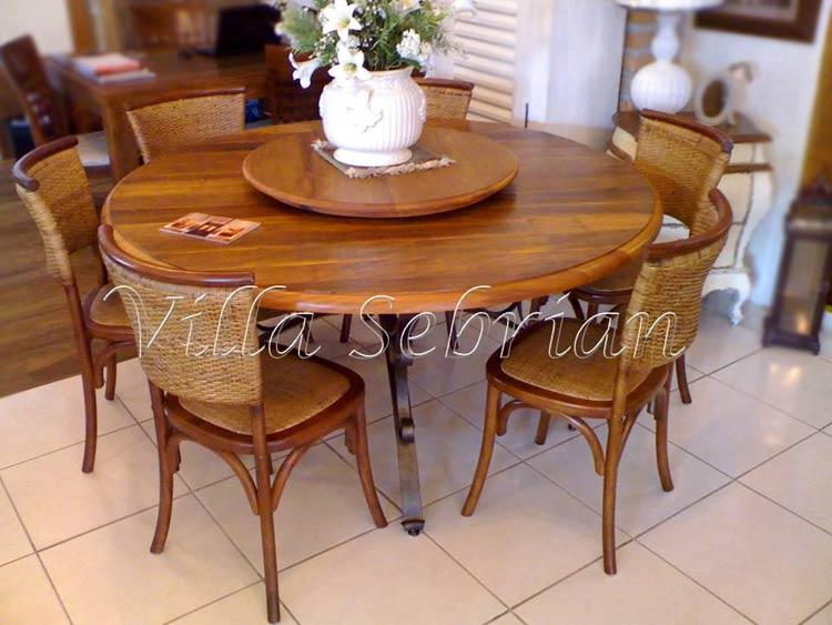 Mesa modelo francesa e cadeiras paris junco villa - Mesa de centro giratoria ...